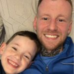 A picture of Andrew and his son - Viral News Scotland
