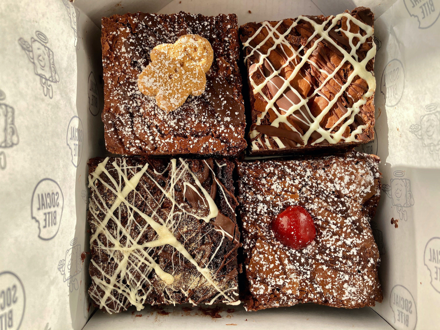 View of the brownies from above - Food and Drink News Scotland