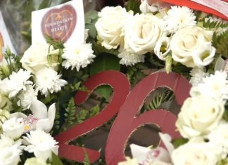 A wreath placed outside Tynecastle following Marius Zaliukas' passing   Hearts news