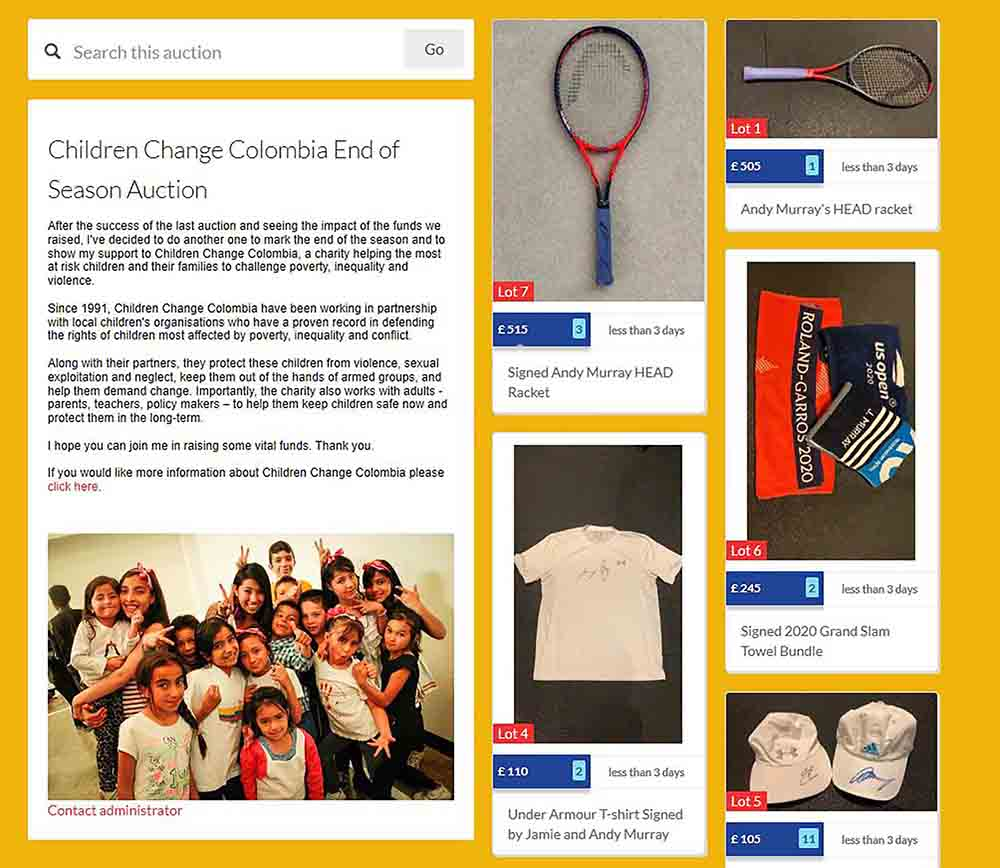 TENNIS fans have the chance to get their hands on tennis rackets and towels used by Andy Murray - Scottish News