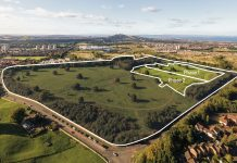 Arial view of the Edmonstone residential development in Edinburgh - Business News Scotland