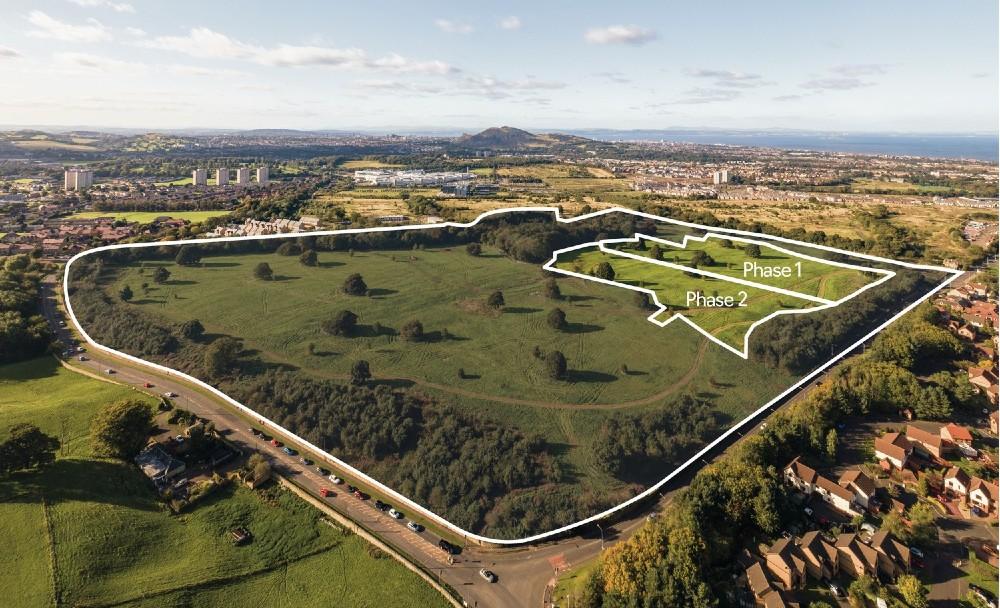 Arial view of the Edmonstone residential development in Edinburgh - Business News Scotland