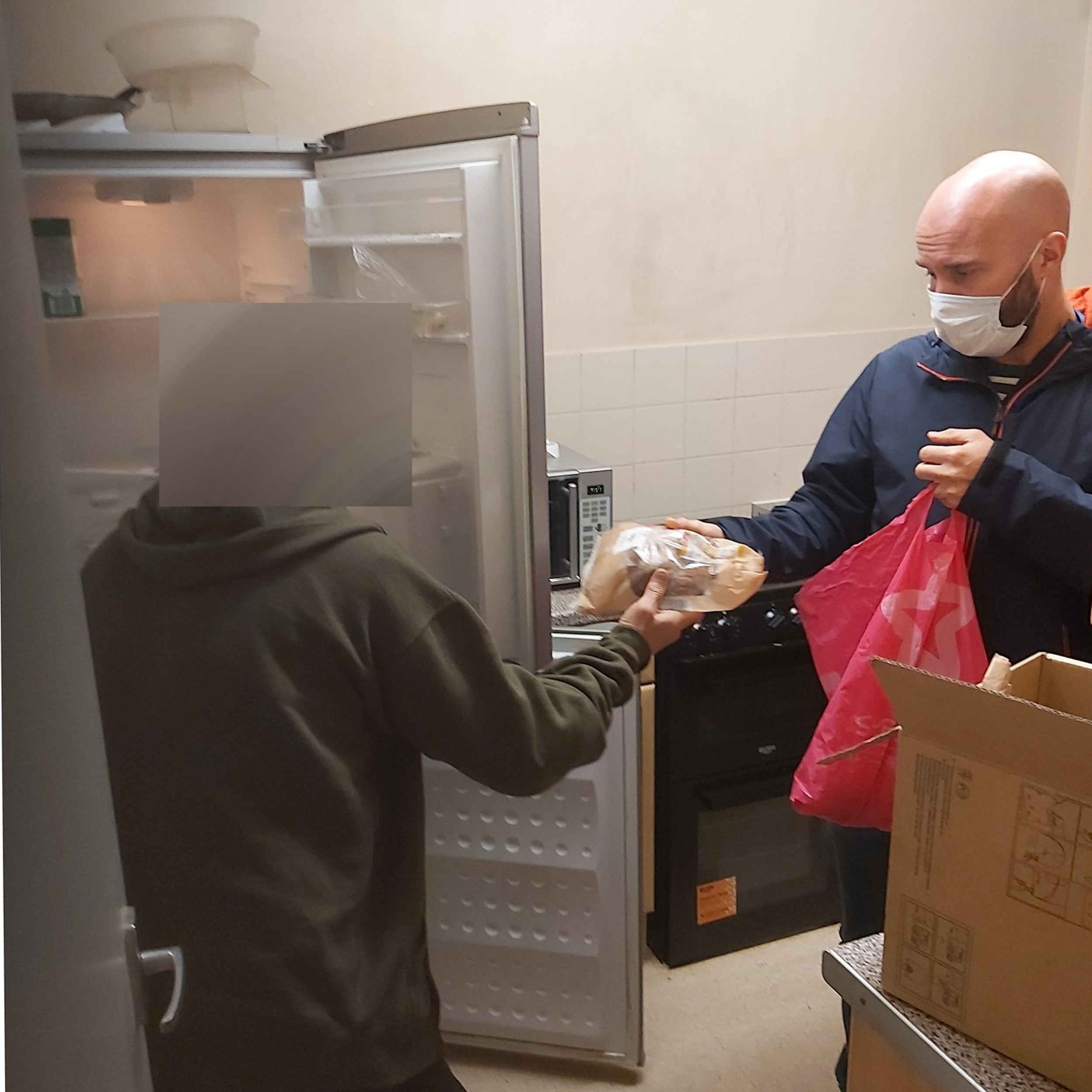 Food going into fridge