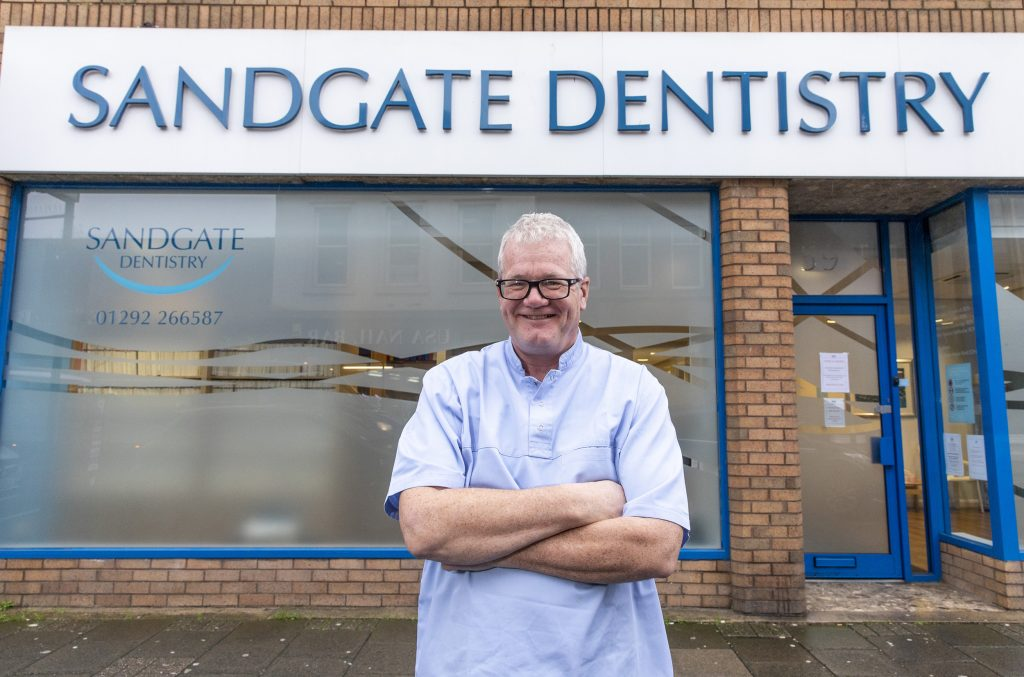 Sandgate Dentistry Ayr.<br /> Pic shows dentist Mark Fitzpatrick, whose practice in Ayrshire has joined Clyde Munro, Scotland's biggest, independent dental group<br /> Photograph by Jamie Williamson