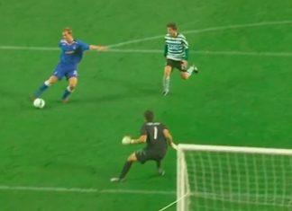 Steven Whittaker slots home a remarkable goal against Portuguese giants Sporting | Rangers news