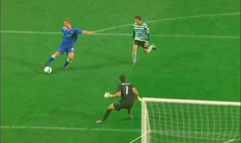 Steven Whittaker slots home a remarkable goal against Portuguese giants Sporting   Rangers news