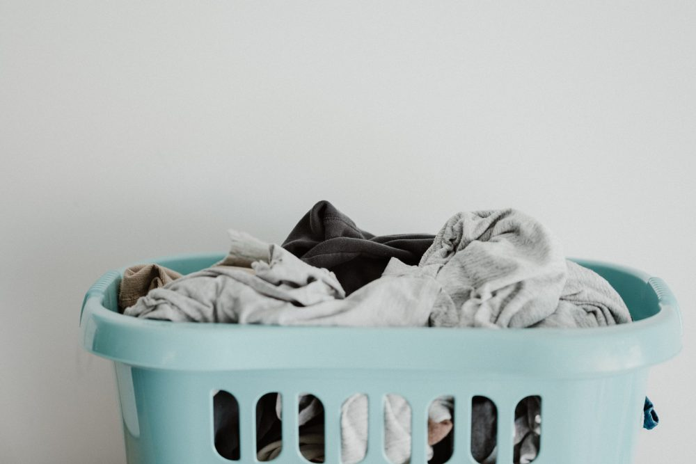 A basket of laundry