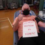 Derek Rogerson is the UK's oldest blood donor