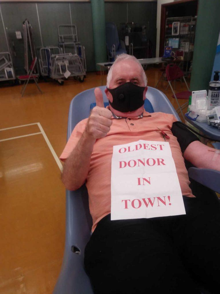 Derek Rogerson the UK's oldest blood donor