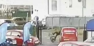 Cyclist hit by van driver