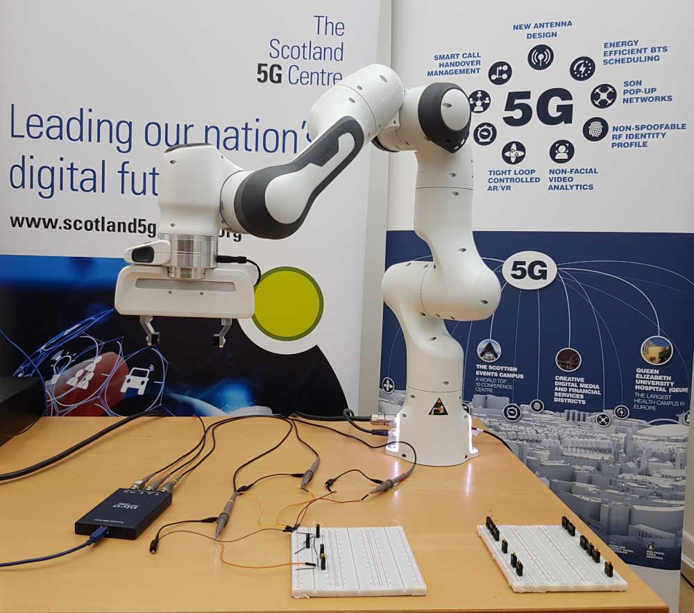 Robotic arm used in pioneerign experiment
