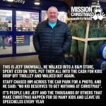 Mr Snowball has been hailed a hero for buying children's toys and then donating them - Consumer News UK