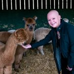 Gail Porter with an Alpaca for Gorgie Farms Christmas appeal 2020 - Scottish News