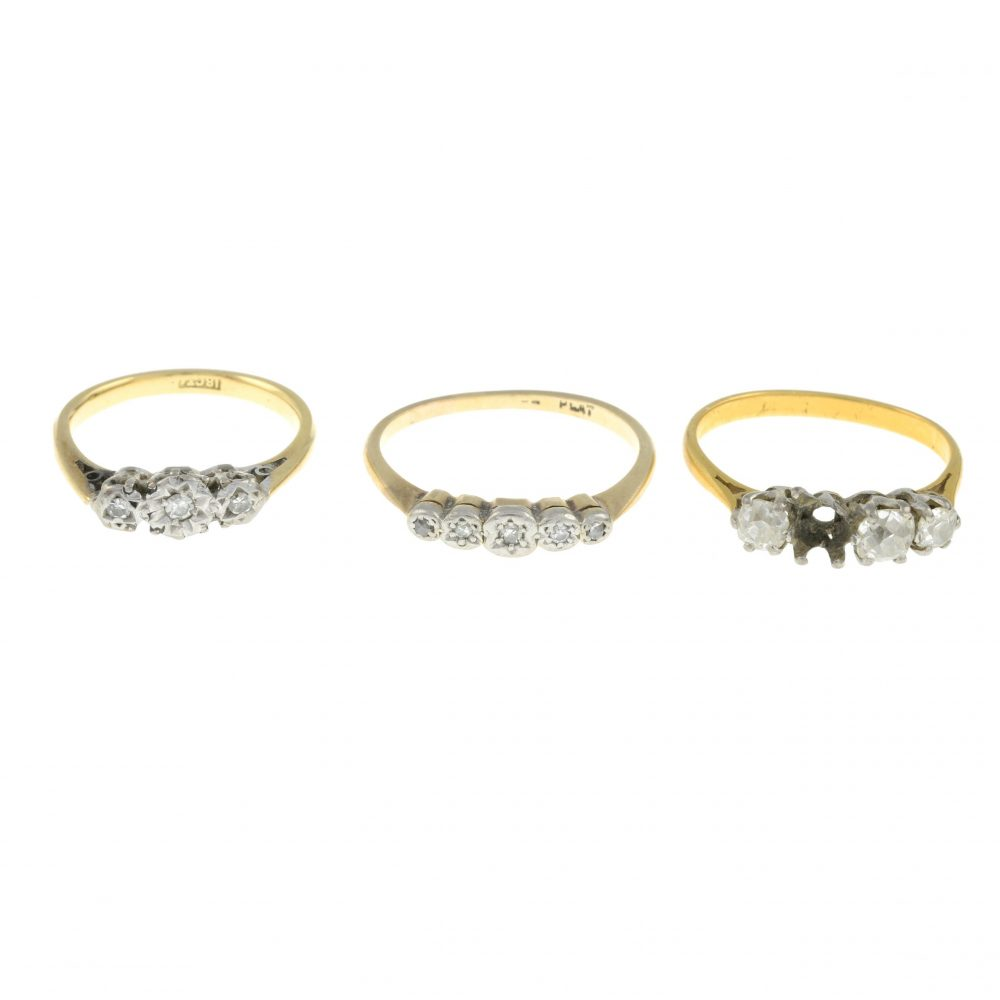 Three diamond rings sold at the auction - Business News Scotland