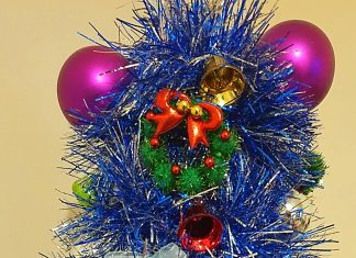 Miniature Christmas tree created by Janet McCallum. Scottish News