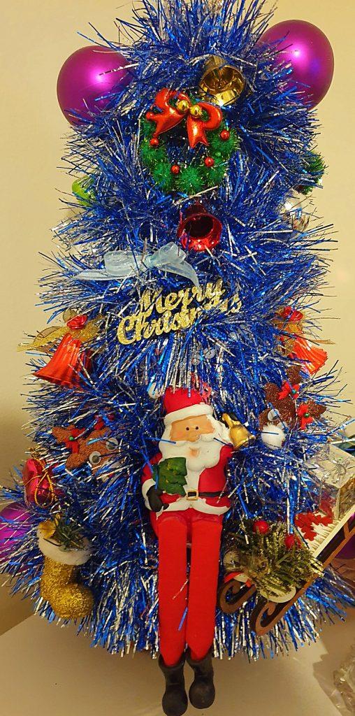 Miniature Christmas tree created by Janet McCallum. Scottish News