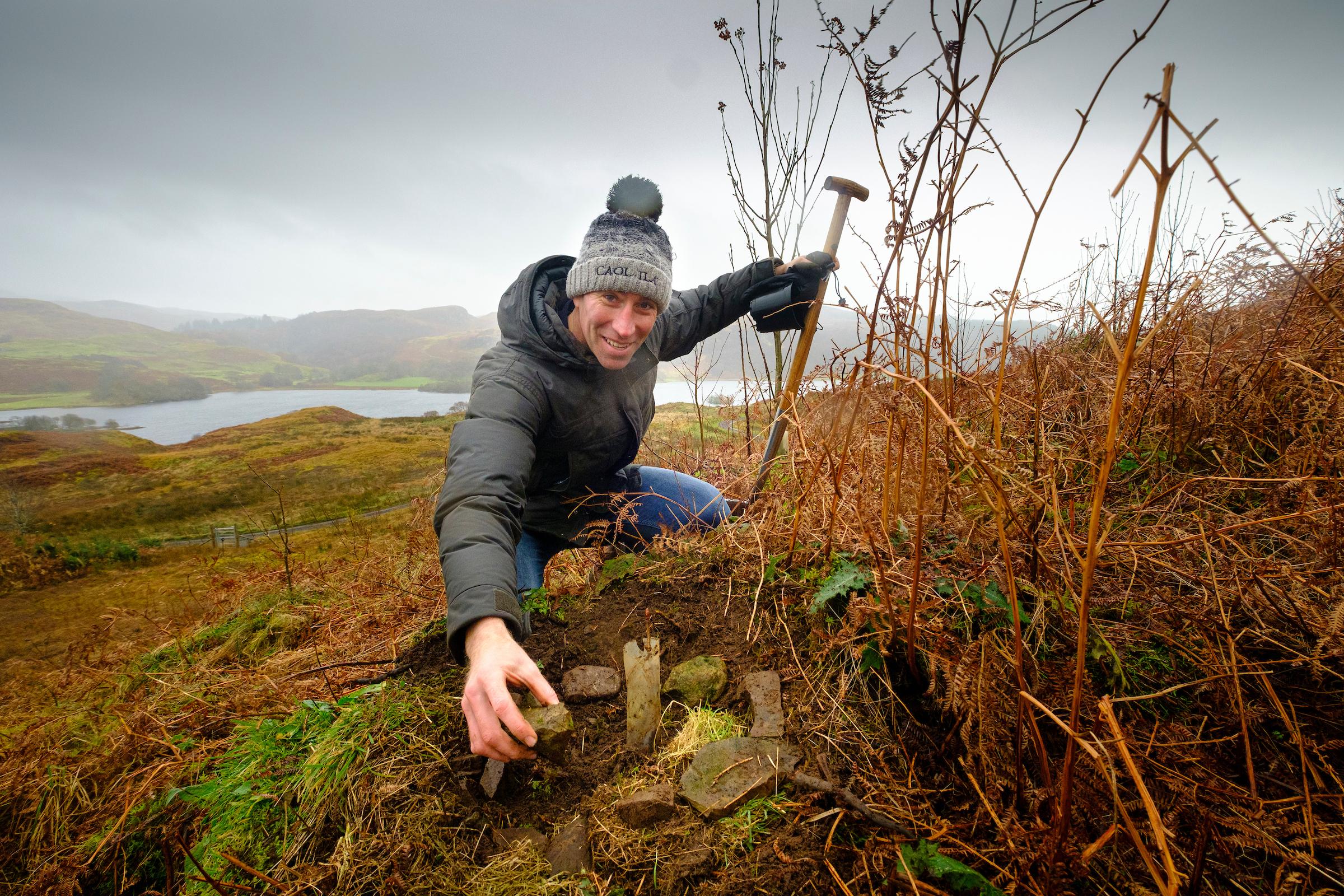 Ewan Andrew tree planting