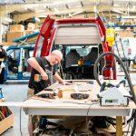 Carpenter working on VW campervan conversion. Scottish Business News