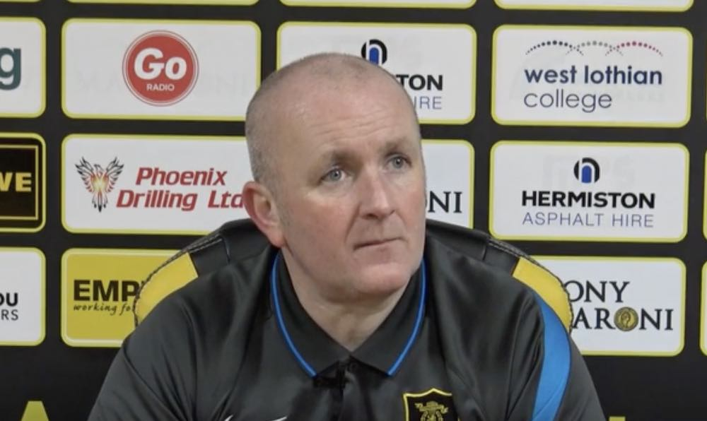 Livingston manager David Martindale | Livingston news