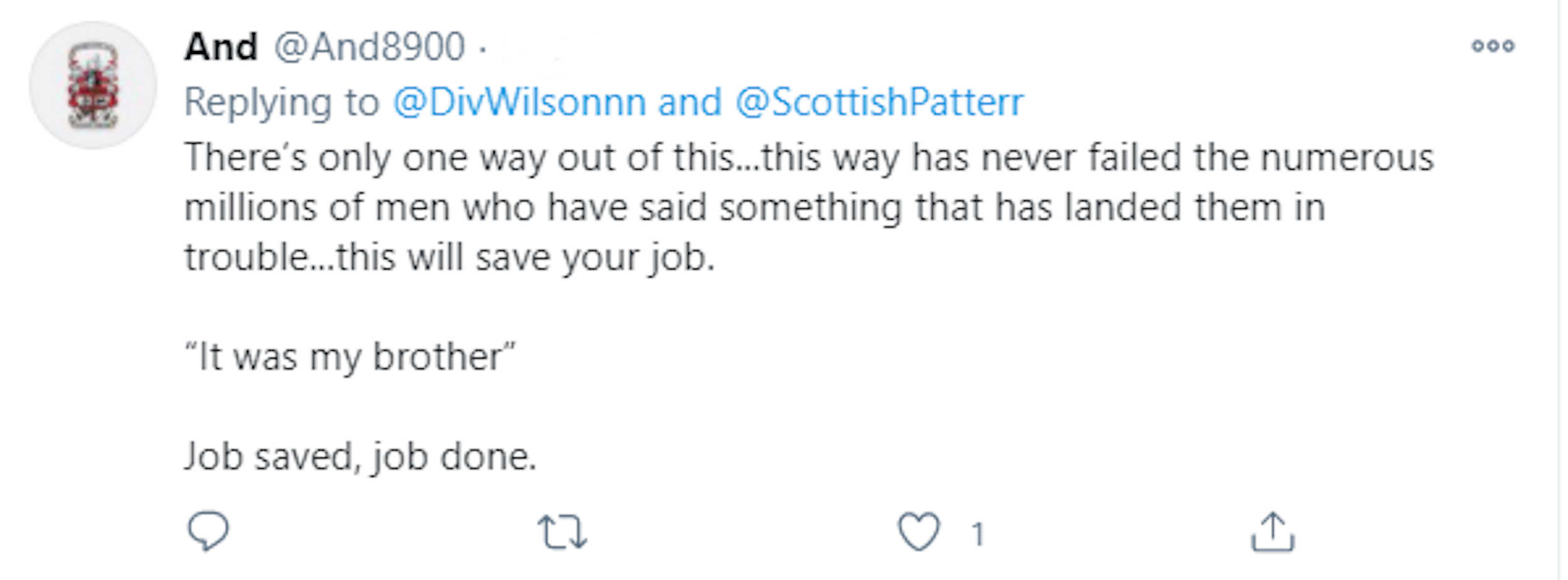 Social media comment - Viral News Scotland