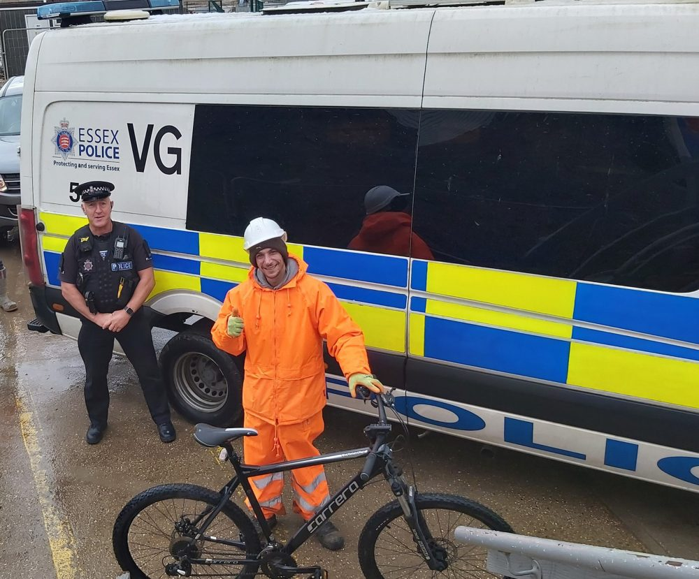 The man with his bike Essex police bought - Viral News UK