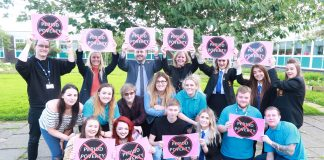 North Ayrshire pupils and staff members standing against period poverty - Scottish News