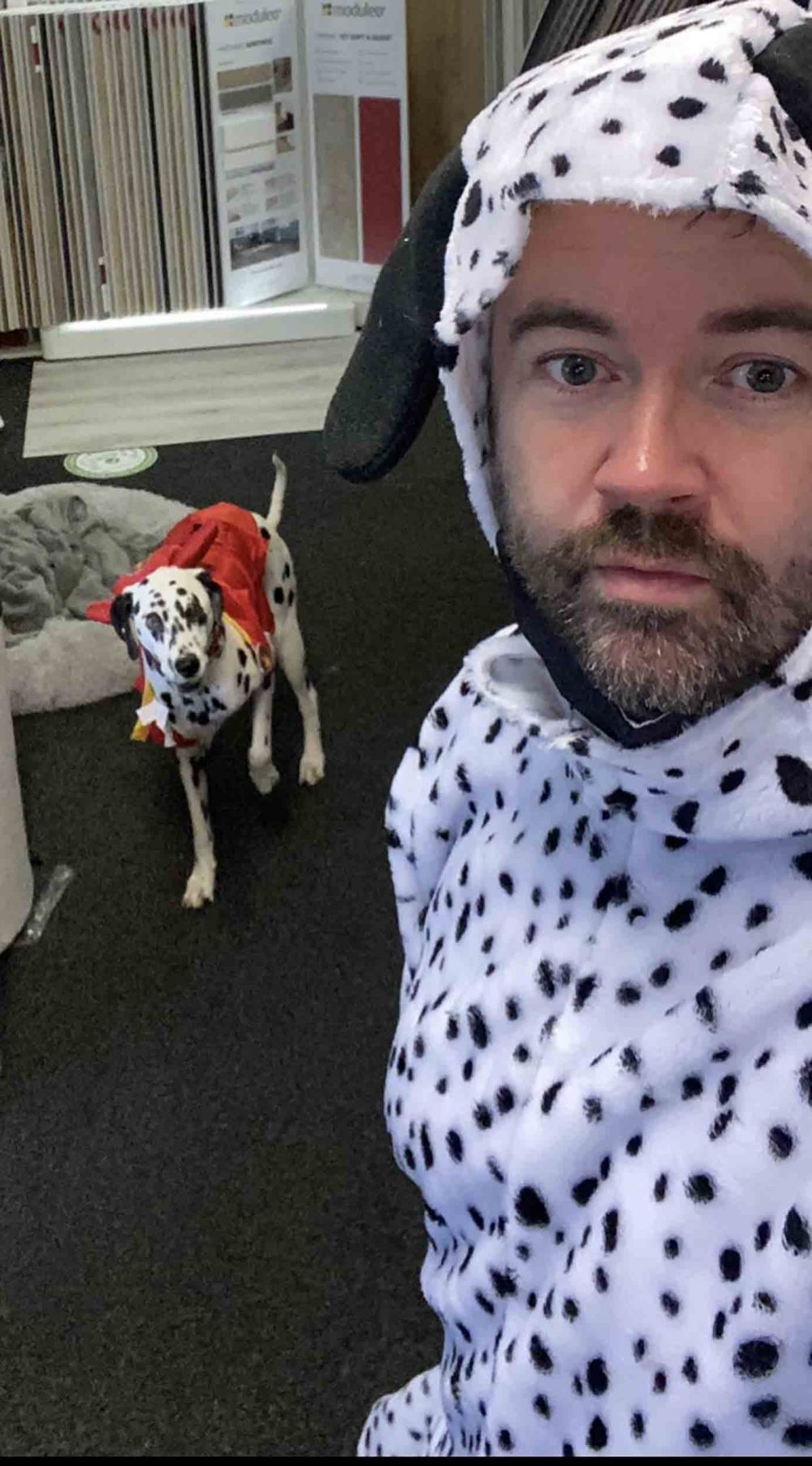 Paul Gallagher and his Dalmatian Max - Viral News Scotland