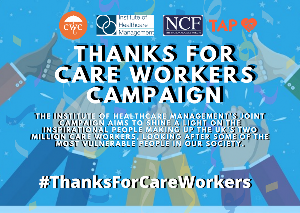 A picture of the #ThanksForCareWorkers campaign posted - Business News uK