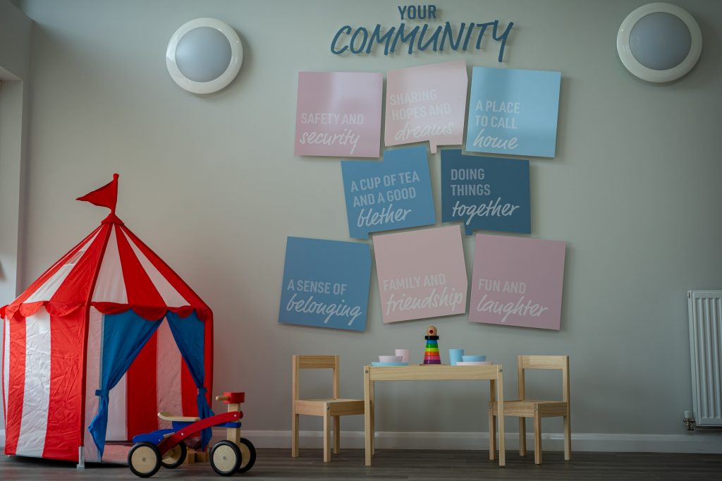 Interior of the £200,000 community hub at Dundas Estates' Uphall Station Village development in a Scottish Business News story