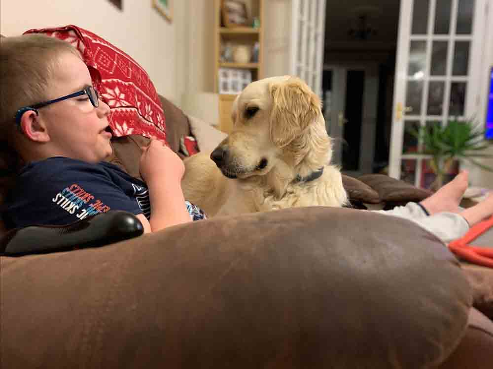 Young boy has assistance dog to help with disabilities - Health News