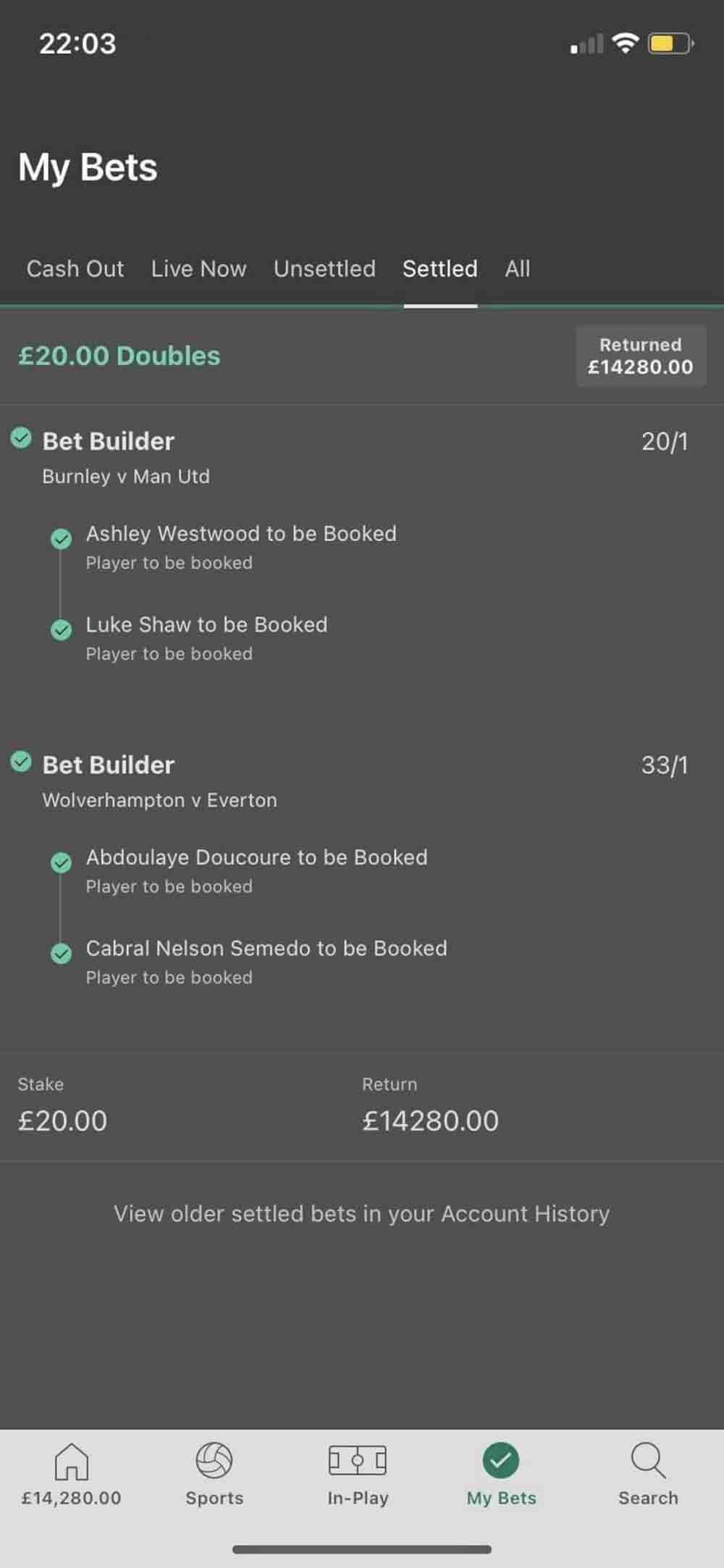 betting odds football 2021/14