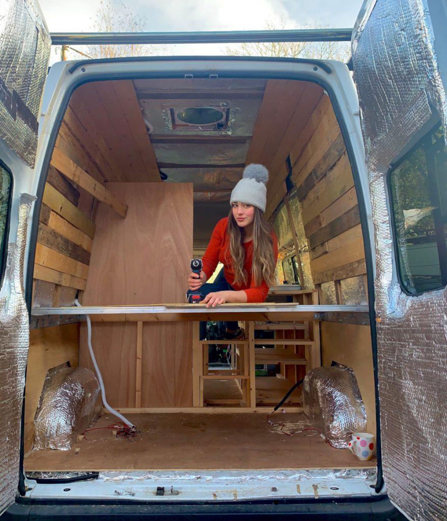 Chalet host converts Transit van into home - Viral News UK