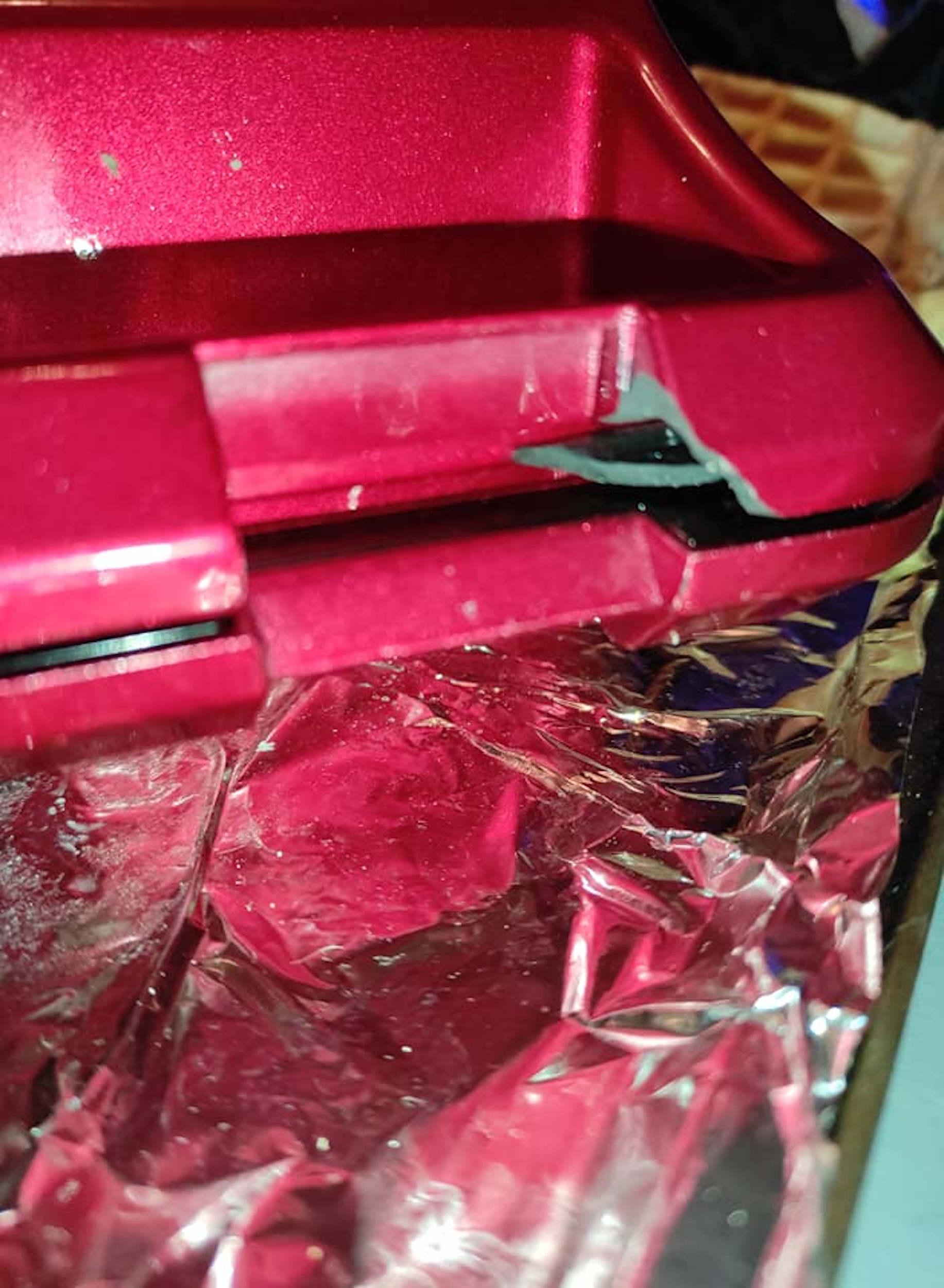 Argos exploded waffle iron