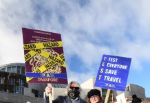 Travel support protests outside Holyrood - Scottish News