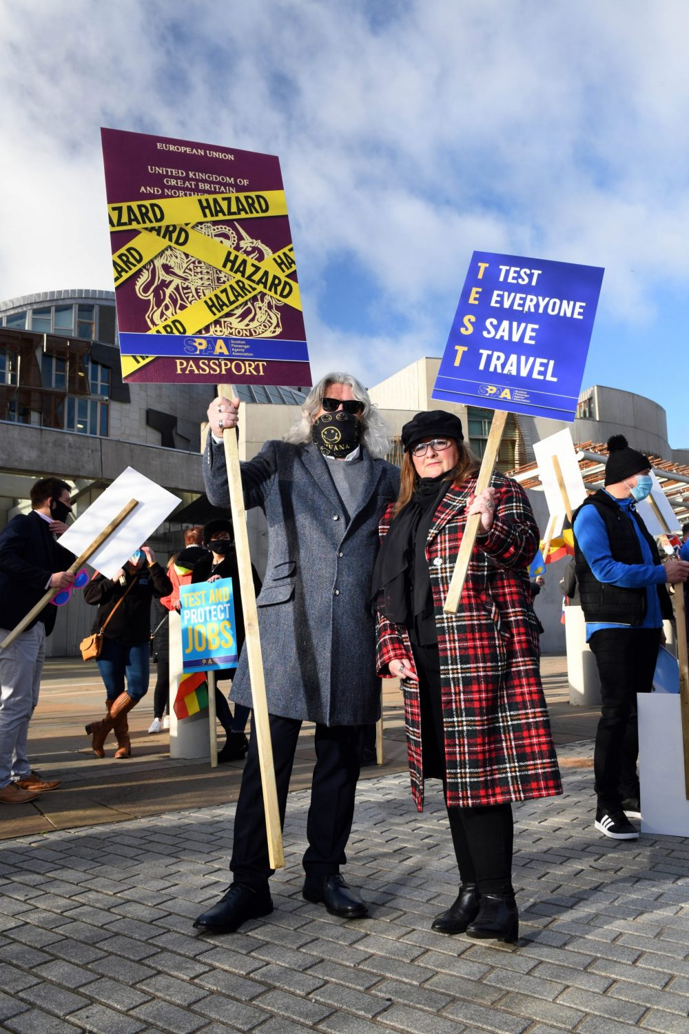 Travel support protests outside Holyrood - Business News Scotland