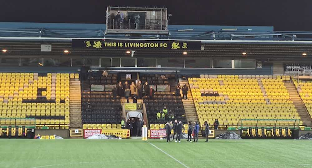 Discussions take place on the pitch, including Derek McInnes, David Martindale and Steven McLean | Livingston news