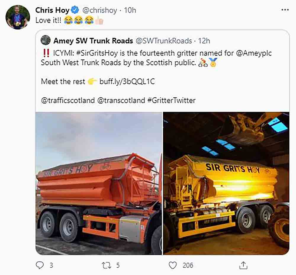 """Sir Chris Hoy gives approval to Scotland's newest """"Sir Grits Hoy - Scottish News"""