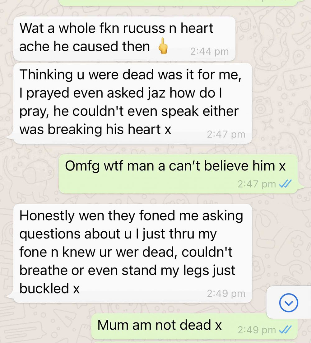 A text between Shannon and her mother - Viral News Scotland