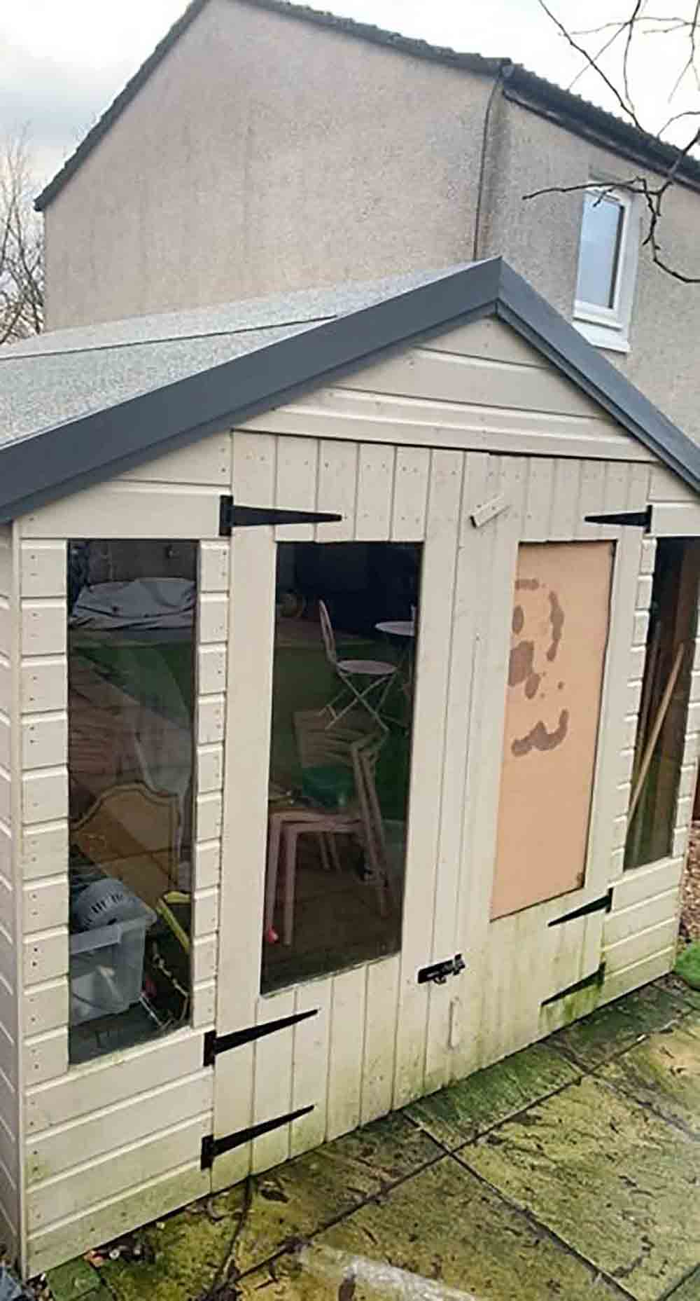 Fraser Crawford managed to capture the moment he lost control on ice and smashed through his shed- Viral Video News Scotland