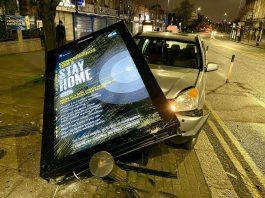 Motorist slams into Stay Home sign - Coronavirus News