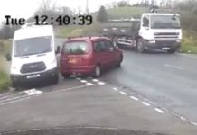 "Heartstopping footage shows van skillfuly avoid collision with car that ""failed to look"" - Viral News UK"