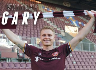New Hearts signing Gary-Mackay-Steven holds scarf above head   Hearts news