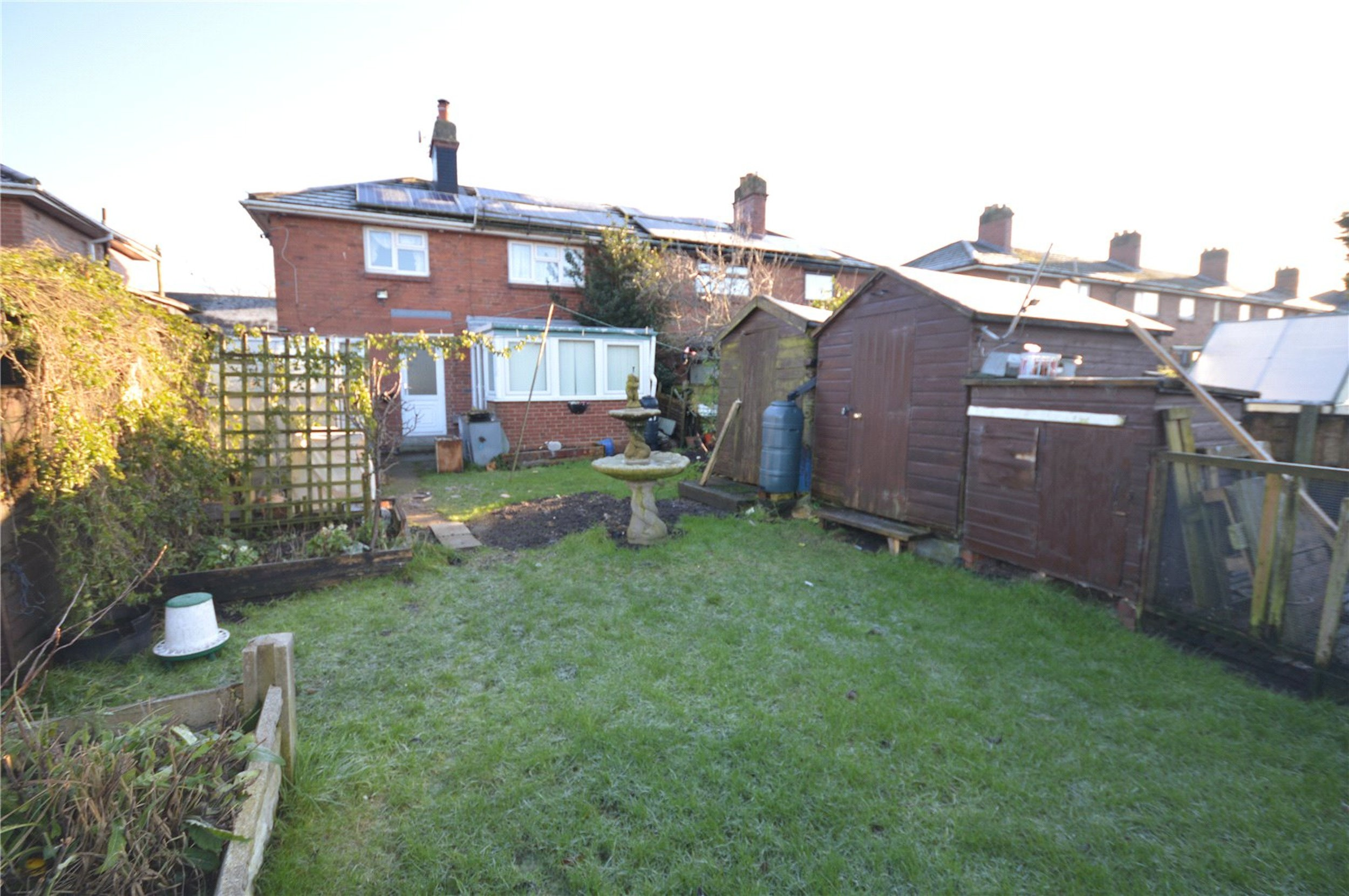 Property for sale with body in garden