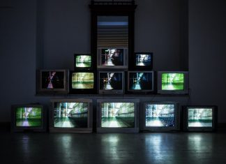 A picture of a stack of TV's - Scottish News
