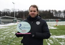 Hearts boss Robbie Neilson with manager of month award | Hearts news