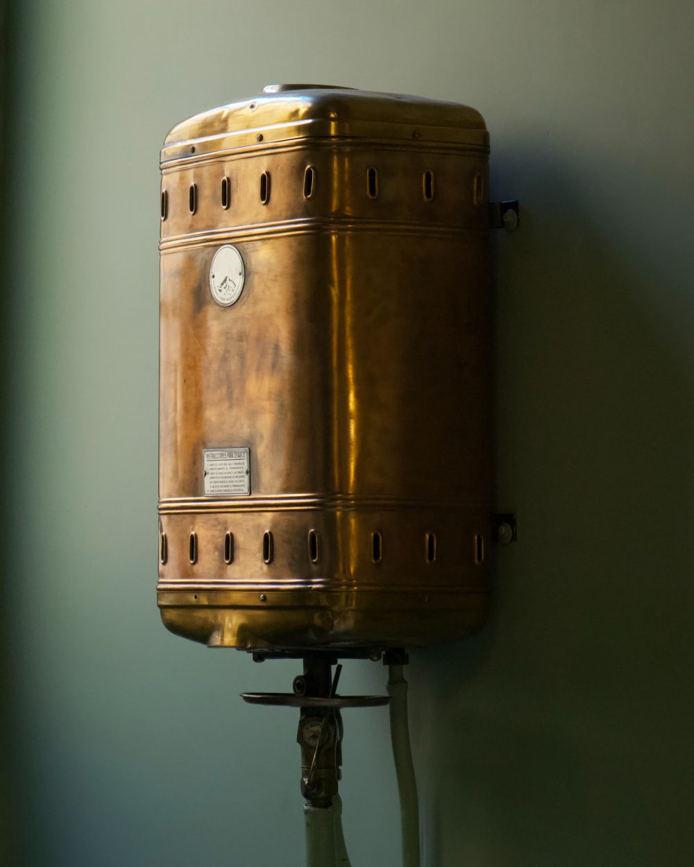 A picture of a boiler