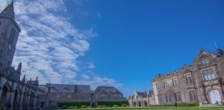 The University of St Andrews court yard - Research News Scotland