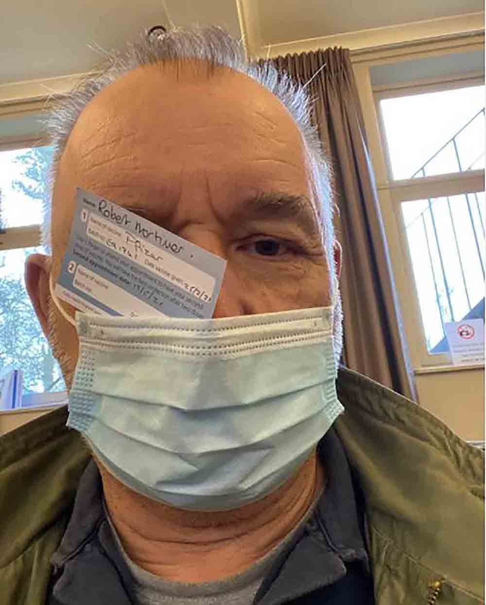 Bob Mortimer receives Covid vaccine and makes conspiracy joke - Health News