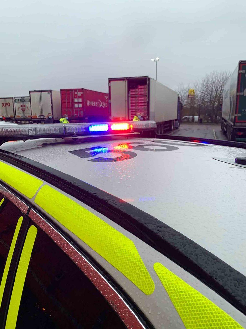 Huntingdonshire Police arrive at the scene - Crime News UK