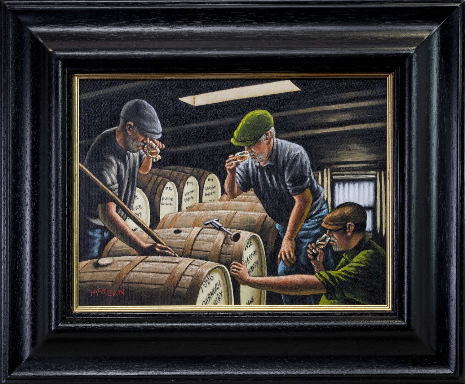 Graham McKean - Whisky nosers and tasters - Art News Scotland